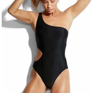 NWT $110  SEAFOLLY FLASHBACK US 12 BLACK 1 PC